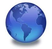 Globe binaire avec le fond blanc Photo libre de droits