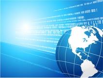 Globe on binary code background Royalty Free Stock Image