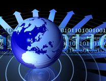 Globe and binary codes Royalty Free Stock Image
