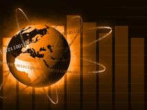 Globe with binary codes Stock Photography
