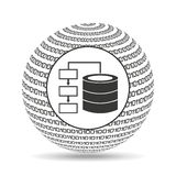 Globe binary concept database storage Royalty Free Stock Photography