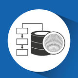 Globe binary concept database storage Stock Photos