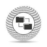 Globe binary concept files transfer. Vector illustration eps 10 Royalty Free Stock Images