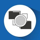 Globe binary concept files transfer. Vector illustration eps 10 Stock Image