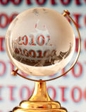 Globe & Binary Numbers Stock Photo
