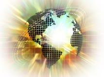 Globe with binary numbers Stock Photo