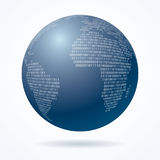 Globe binary one Stock Images