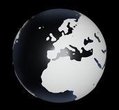 Globe On Black Stock Photography