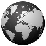 Globe black series Stock Photography