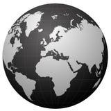 Globe black series Stock Photography