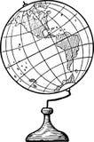 Hand Drawn Globe Stock Image