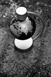 Globe black and white Stock Image