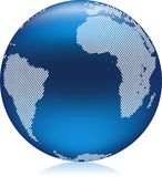 Globe bleu illustration stock