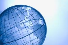 Globe bleu Photographie stock