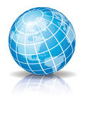 Globe bleu 2 Photo libre de droits