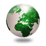 Globe bleu 2 du monde Image libre de droits