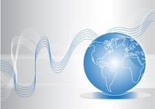 Globe bleu Image stock
