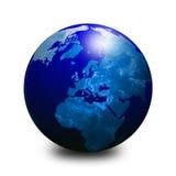 Globe bleu 3 du monde Photo libre de droits