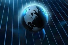 Globe bleu Photos libres de droits