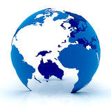 Globe bleu Photo libre de droits