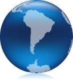 globe bleu illustration de vecteur