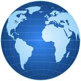 Globe bleu d'isolement Image libre de droits