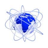globe bleu de 3d Afrique futur illustration de vecteur