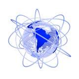 globe bleu de 3d Amérique futur du sud Photos libres de droits
