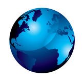 globe bleu de gel Photo libre de droits