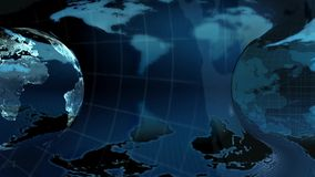 Globe bleu de la terre sur un fond