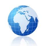 Globe bleu du monde Photographie stock