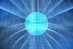 Globe bleu lumineux Images libres de droits
