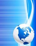 Globe on blue background Royalty Free Stock Photography