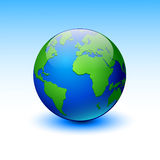 Globe on a blue background. Royalty Free Stock Photo