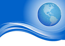 Globe on blue background Royalty Free Stock Photo