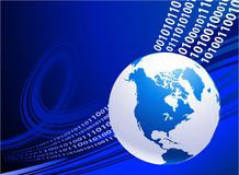 Globe on blue business background Stock Image
