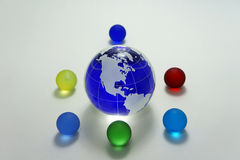 Globe of the blue glass Stock Image