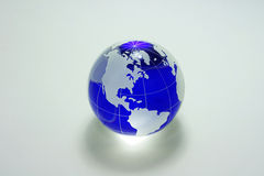 Globe of the blue glass Royalty Free Stock Images