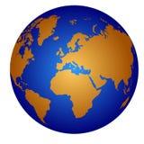 Globe blue and orange series Stock Images