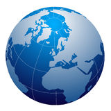 Globe blue series Stock Images