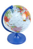 Globe on blue stand Royalty Free Stock Photos