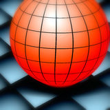 Globe on board. Abstract background globe  illustration Royalty Free Stock Photography