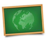 The globe on the Board. Illustration. Doodle Royalty Free Stock Images