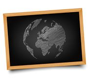 The globe on the Board. Illustration. Doodle Royalty Free Stock Photography