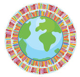 Globe and book education concept Stock Image