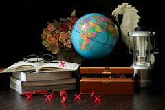 Globe and book Royalty Free Stock Photo