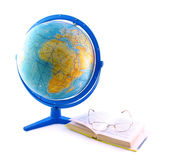 Globe, book and glasses Stock Photo
