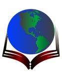 Globe on book Stock Image
