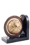 A globe on a bookend isolated Stock Image