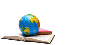 Globe and books Stock Photography